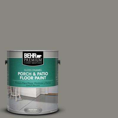 1 gal. #HDC-NT-23 Wet Cement Gloss Interior/Exterior Porch and Patio Floor Paint