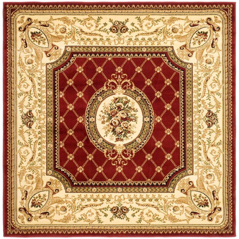 Safavieh Lyndhurst Red Ivory 6 Ft X 6 Ft Square Area Rug