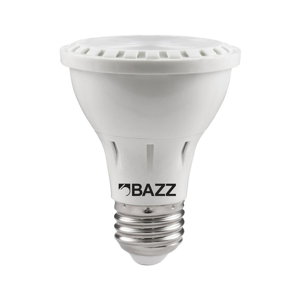 Home Depot Led Light Bulbs: BAZZ 50W Equivalent Soft White PAR20 LED Flood Light Bulb