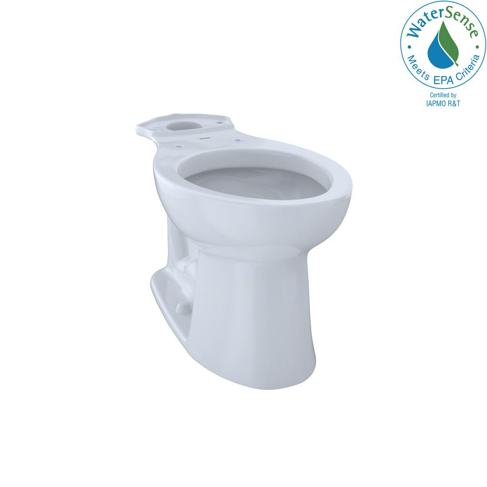 TOTO Entrada Elongated Toilet Bowl Only in Cotton White-c244ef#01 ...