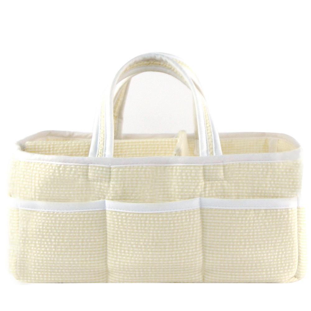 Trend Lab Yellow Gingham Seersucker Storage Caddy, Yellow...