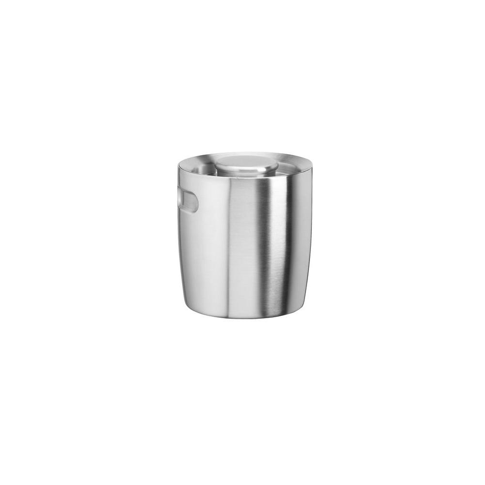 Kraftware 1.5 Qt. No Handle Insulated Ice Bucket in Brushed Stainless Steel