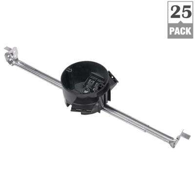 3-1/2 in. New Work Round Ceiling/Fixture Outlet Box with Bar Hanger (Case of 25)
