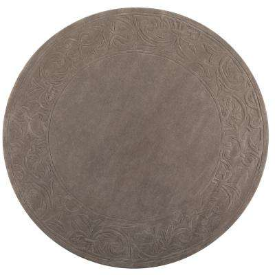 Cyrus Grey 8 ft. x 8 ft. Round Area Rug
