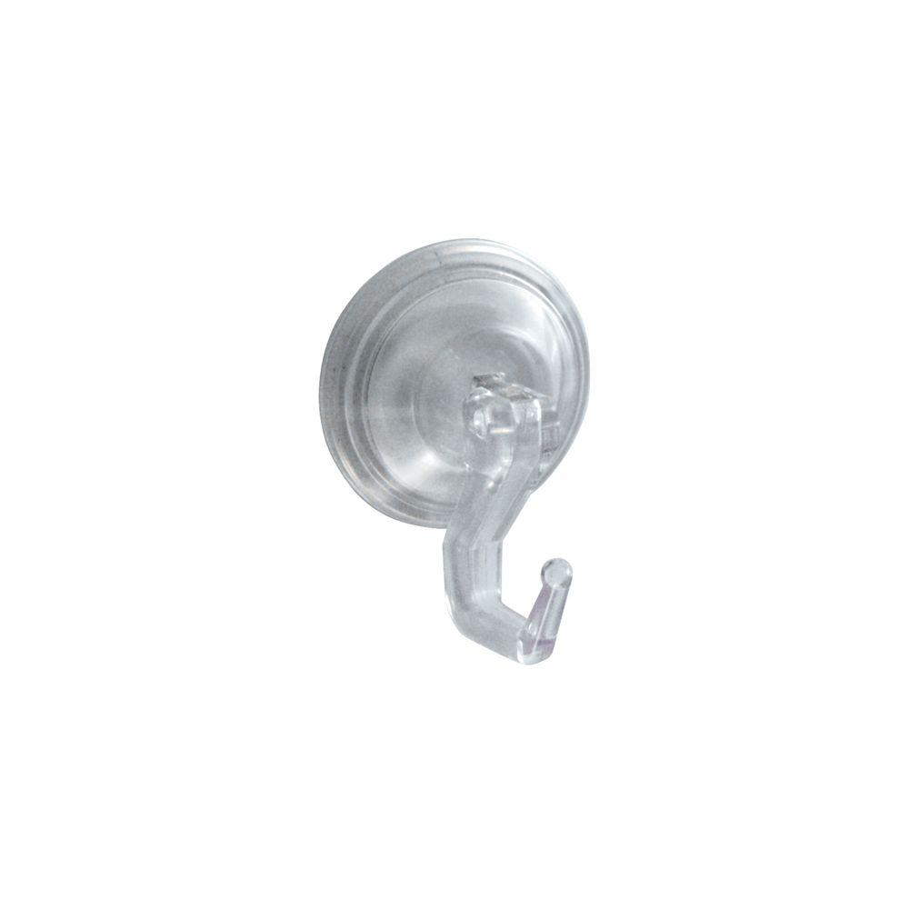 interDesign Power-Lock Suction Large Single Robe Hook in Clear