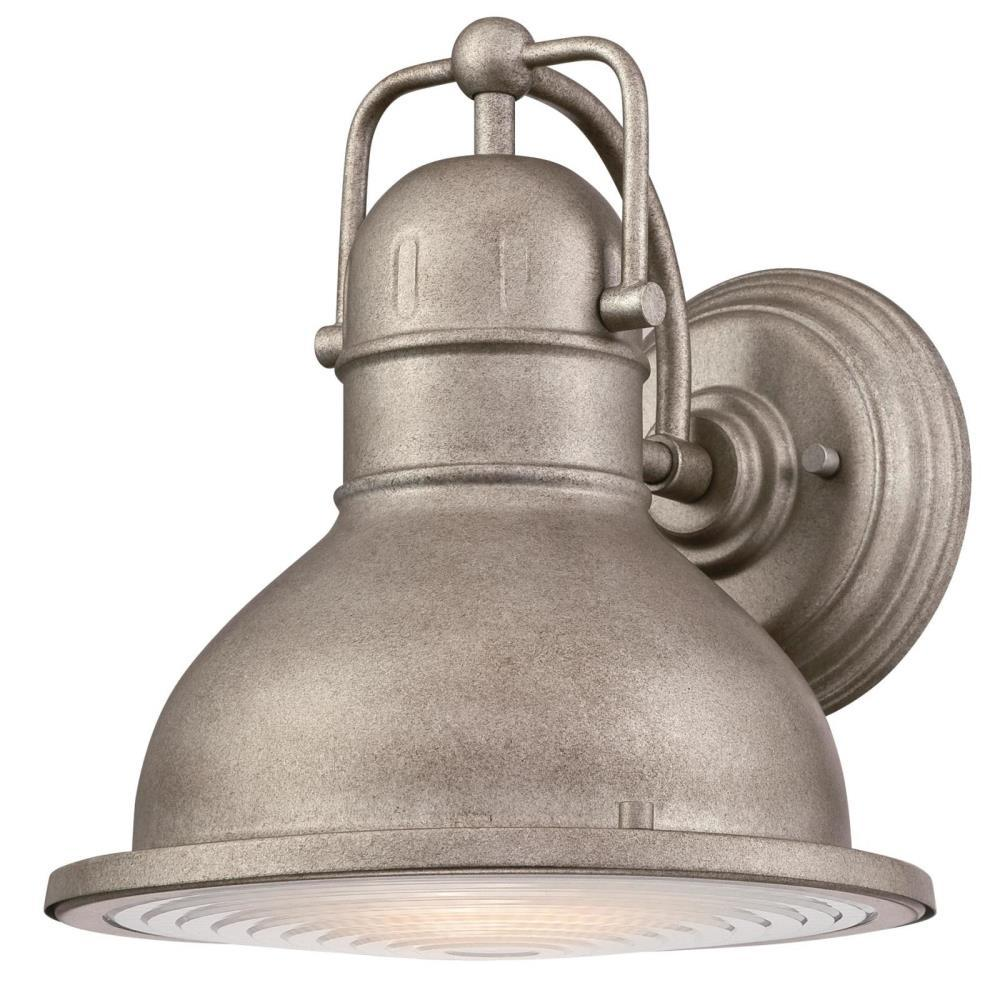 Westinghouse Orson 1-Light Weathered Steel Outdoor Integrated LED Wall Lantern Sconce