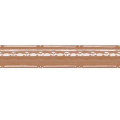 2-1/2 in. x 4 ft. Satin Copper Nail-up/Direct Application Tin Ceiling Cornice (6-Pack)