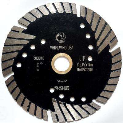 5 in. Turbo 6-Teeth Segmented Diamond Saw Blade Granite Marble Concrete Cutting