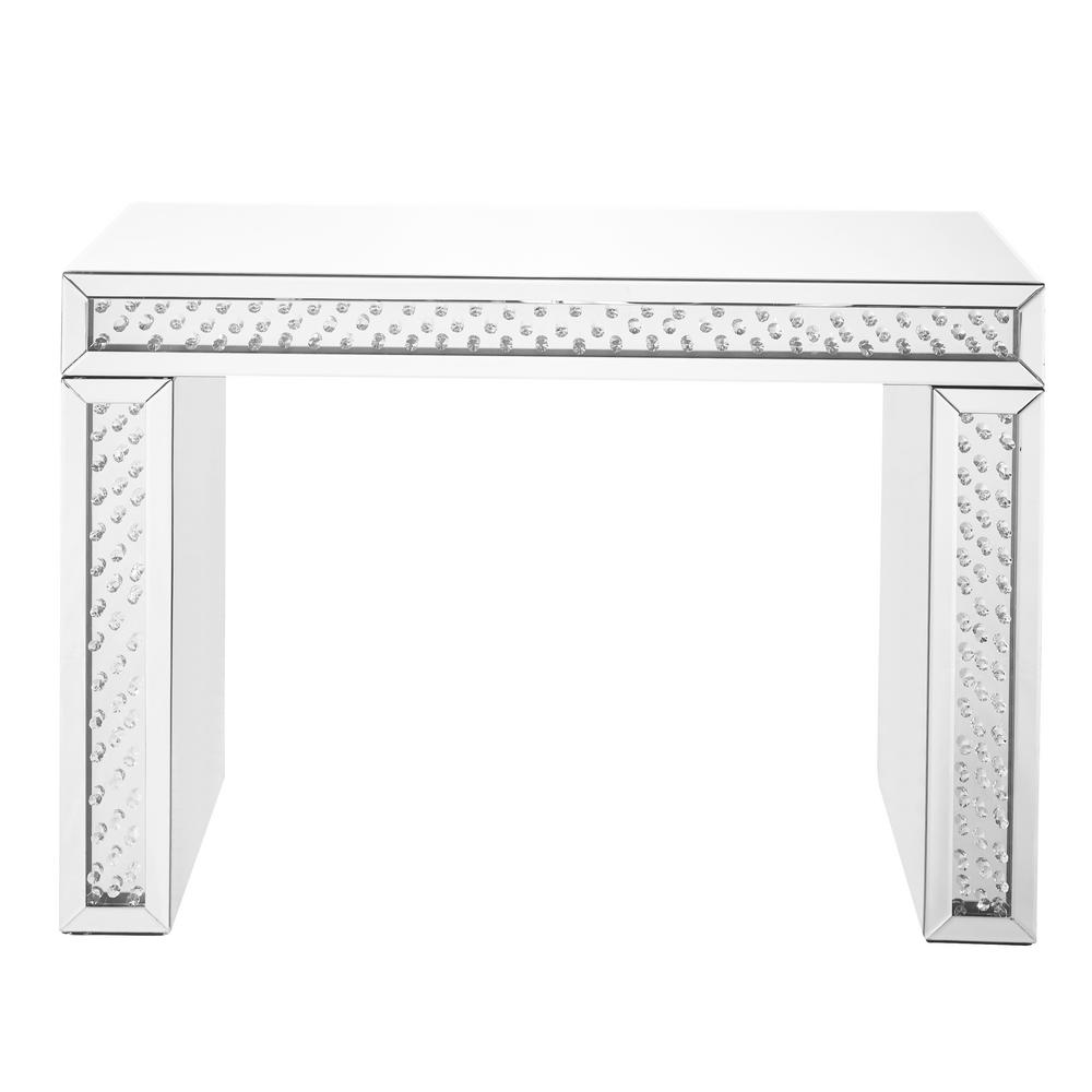 Highgrove 43.5 in. Clear Finish Rectangle Crystal Console Table with Rectangle