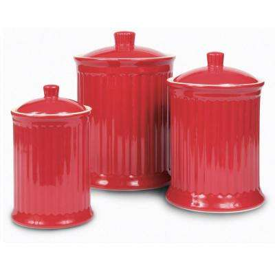 A set of Airtight Canisters 24 oz., 44oz., 88 oz. (3-piece)