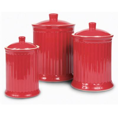 Red Kitchen Canisters Food Storage The Home Depot