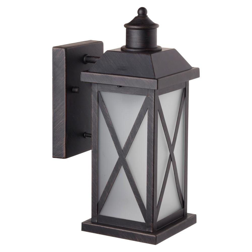 Globe Electric Ridley 1-Light Bronze Outdoor Wall Lantern Sconce