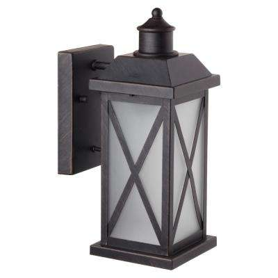 Ridley 1-Light Bronze Outdoor Wall Mount Sconce
