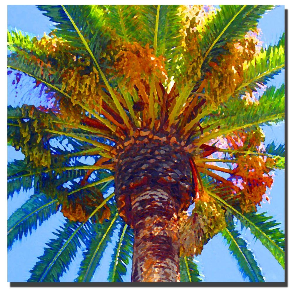 35 in x 35 in palm tree canvas art