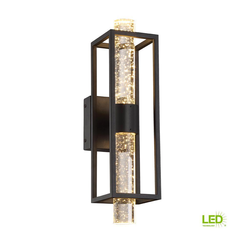 Aloft 21-Watt Black Integrated LED Wall Sconce