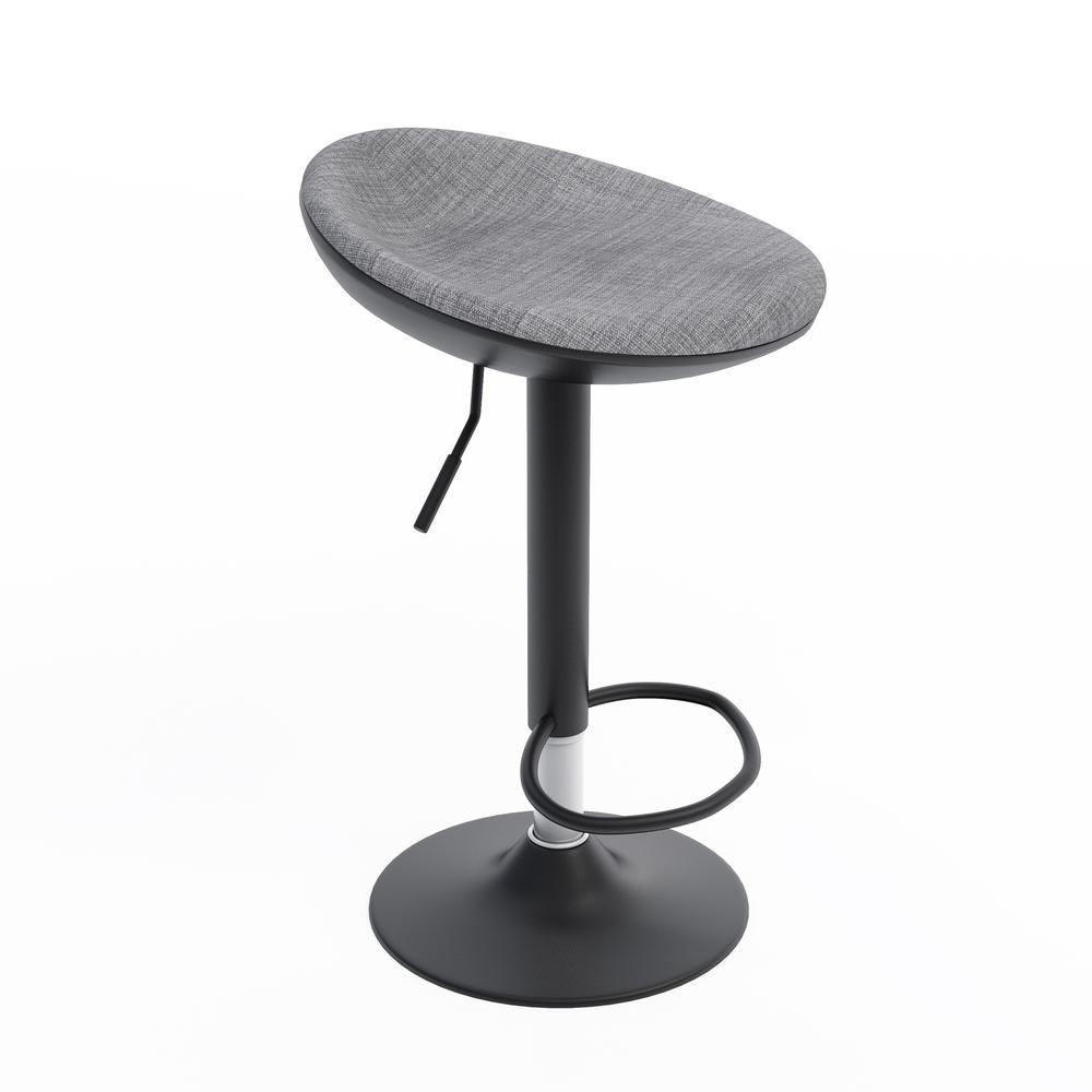 Jamesdar Ergo 265 In To 32 In Adjustable Height Black Bar Stool