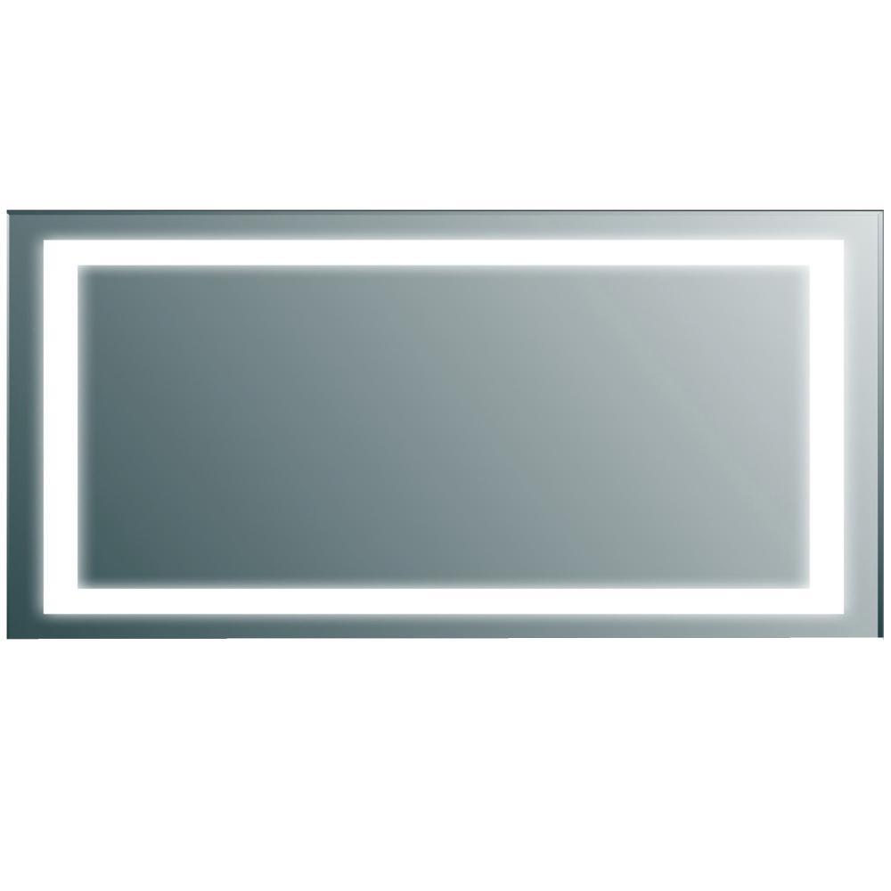 Eviva Lite 72 in. W x 30 in. H LED Wall Mounted Vanity Bathroom LED Mirror in Aluminum