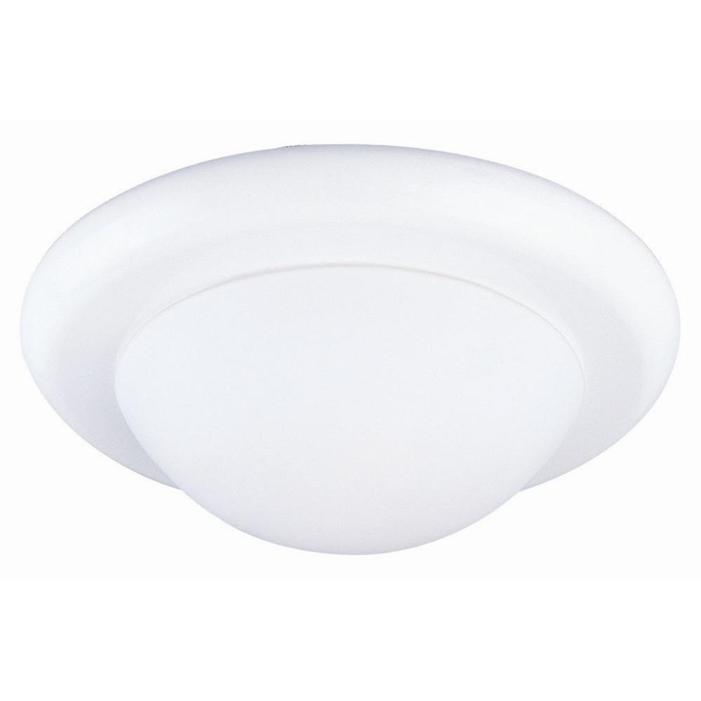 Twist Off 1-Light White Ceiling Light