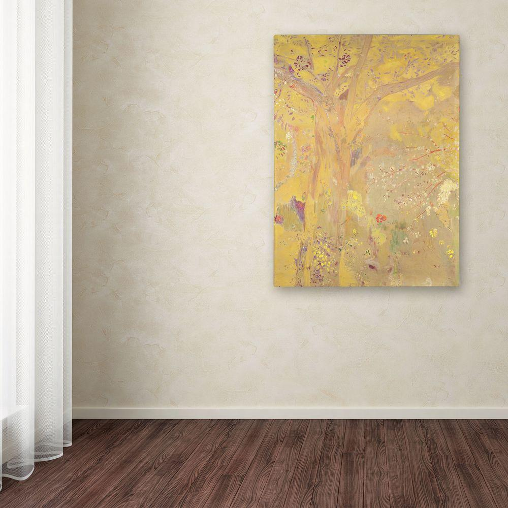 Trademark 47 in. x 35 in. Yellow Tree Canvas Art