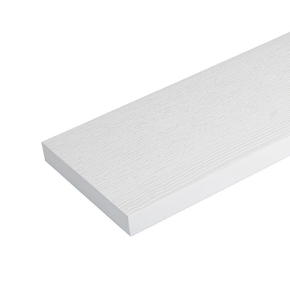 1 in. x 5-1/2 in. x 12 ft. White HP Reversible