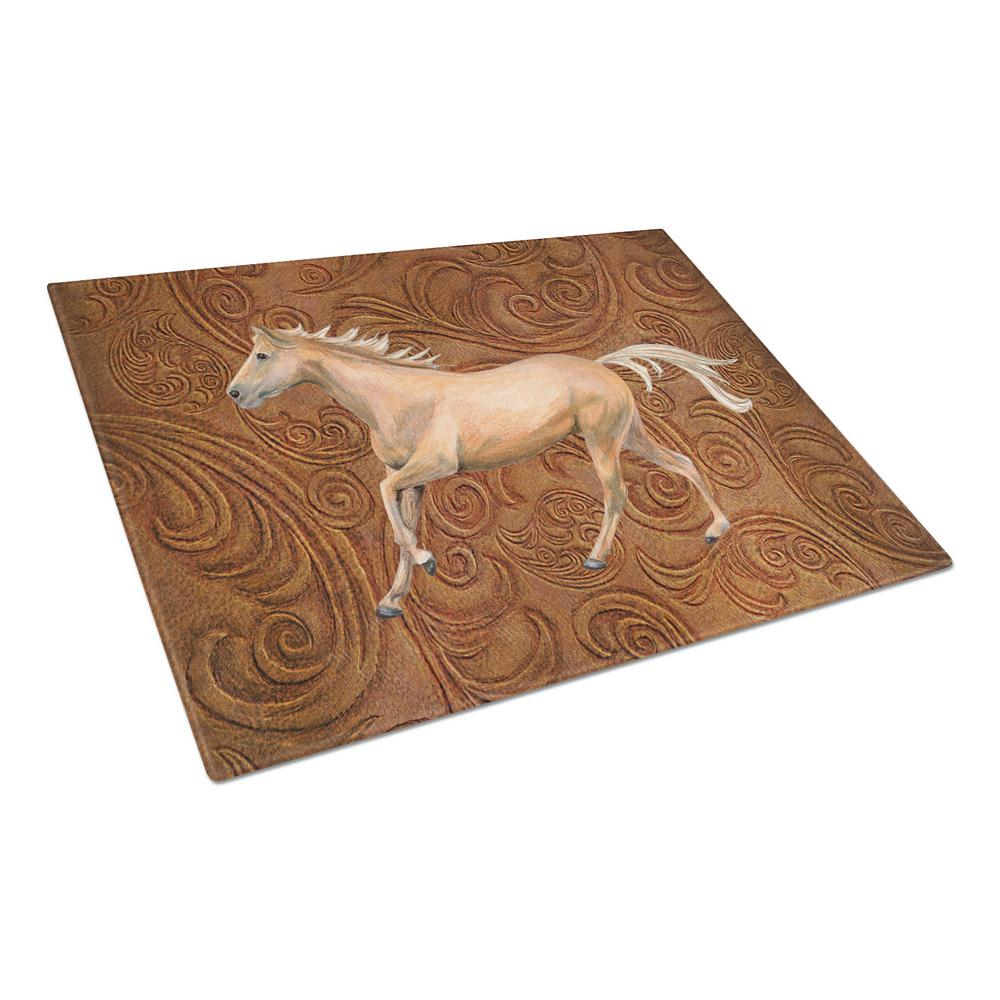 Horse Tempered Glass Large Cutting Board