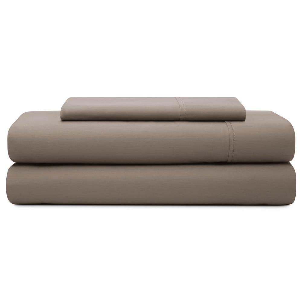 Brookside 3-Piece Sandstone Cotton Blend Twin XL Sheet Set BS06TXSACS