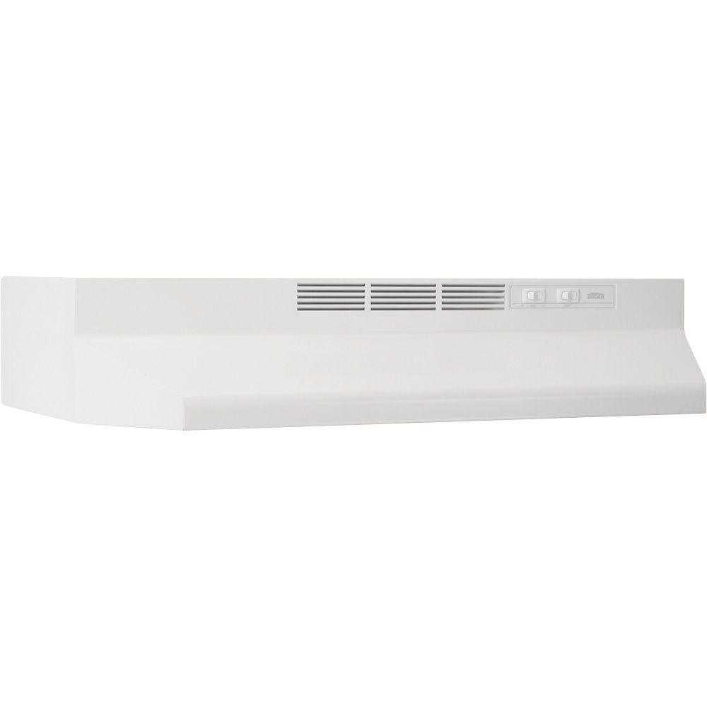 Broan 41000 Series 24 in. Non-Vented Range Hood in White