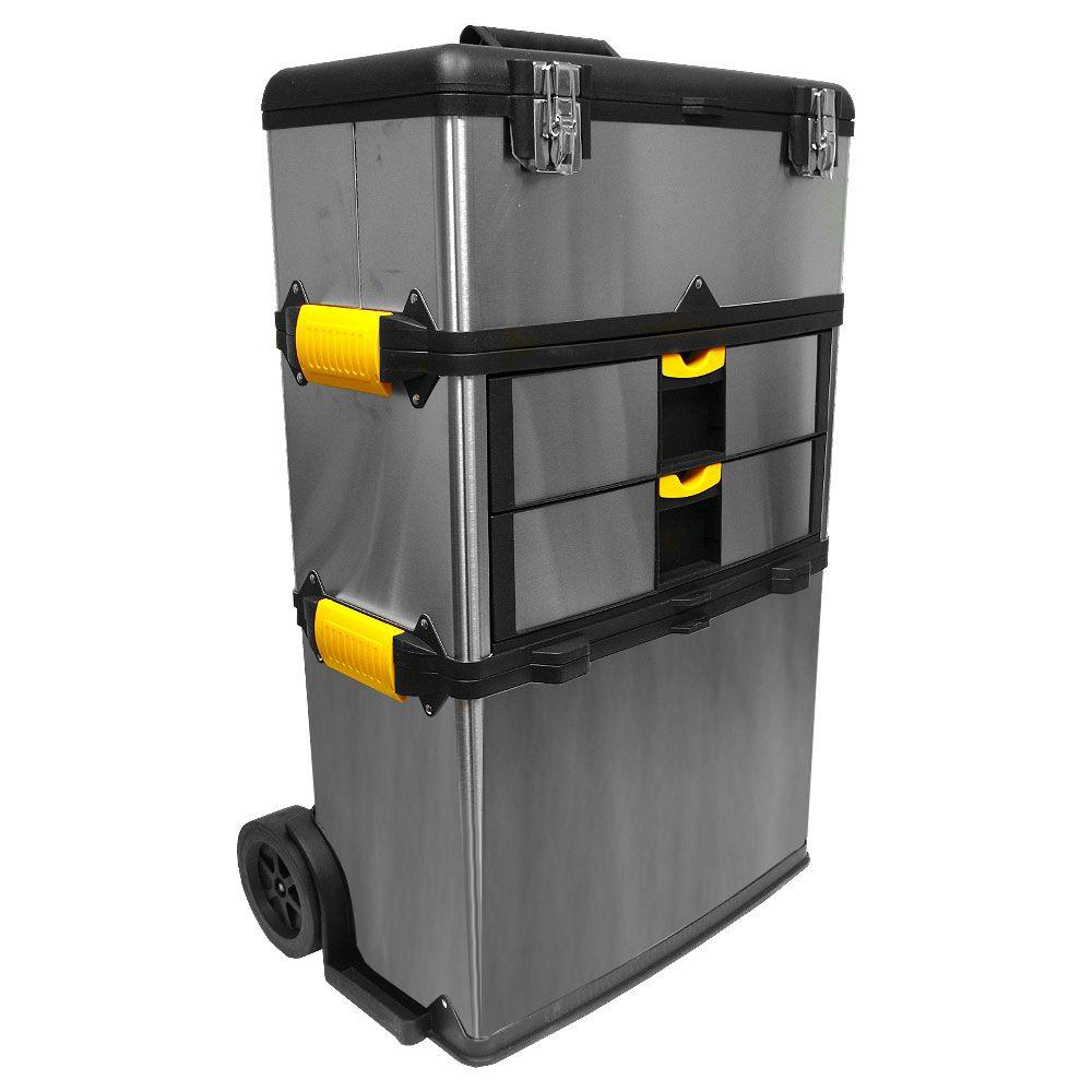 Stalwart 25 in. 4-Drawer Massive and Mobile Tool Box