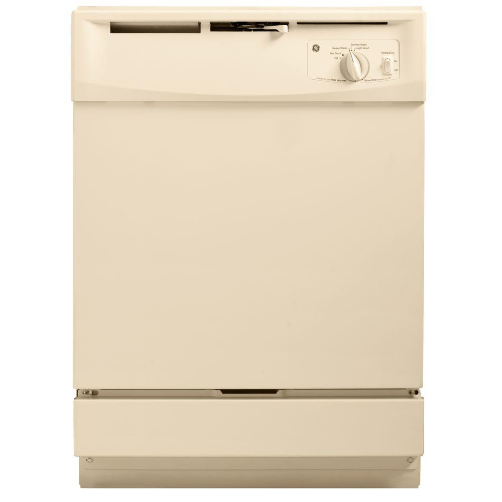 GE Front Control Dishwasher in Bisque