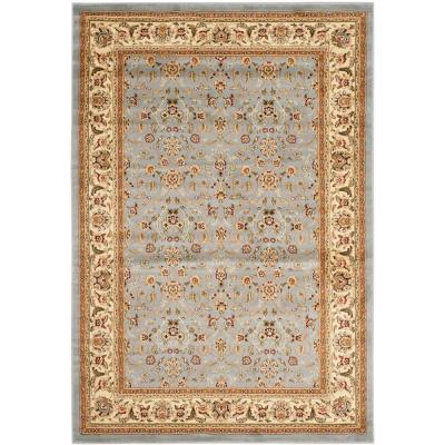 Lyndhurst Light Blue/Ivory 6 ft. x 9 ft. Area Rug