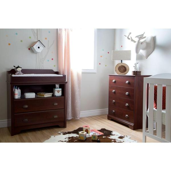 South Shore Fundy Tide 4-Drawer Royal Cherry Chest 9022034