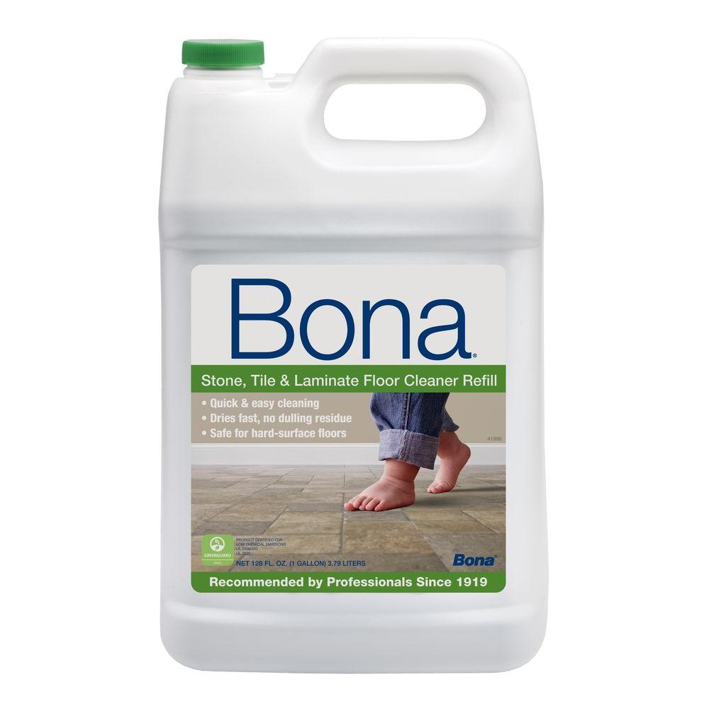 Bona 128 oz stone tile and laminate cleaner wm700018172 for Liquid lino floor paint