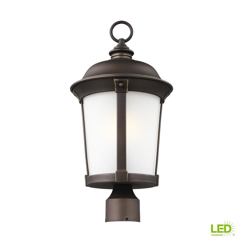 Calder 1 Light Outdoor Antique Bronze Post With Led Bulb