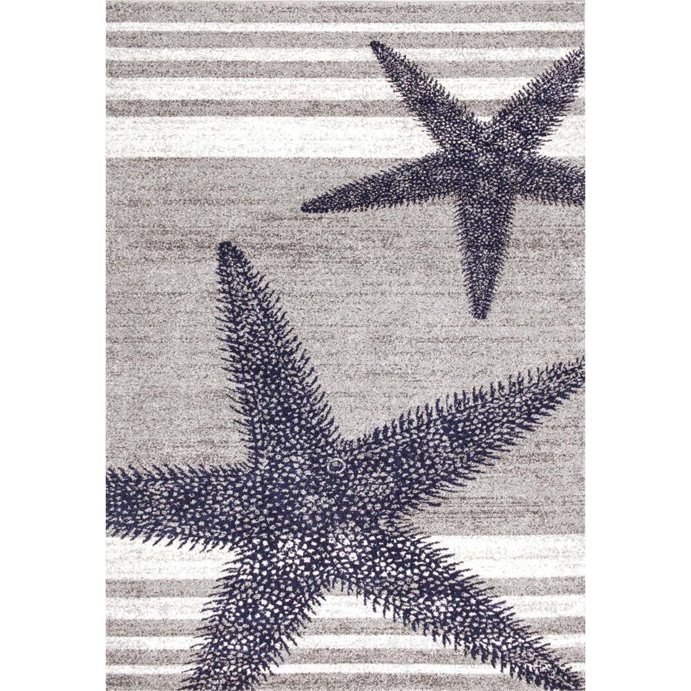 NuLOOM Thomas Paul Starfish Grey 5 Ft. X 8 Ft. Area Rug