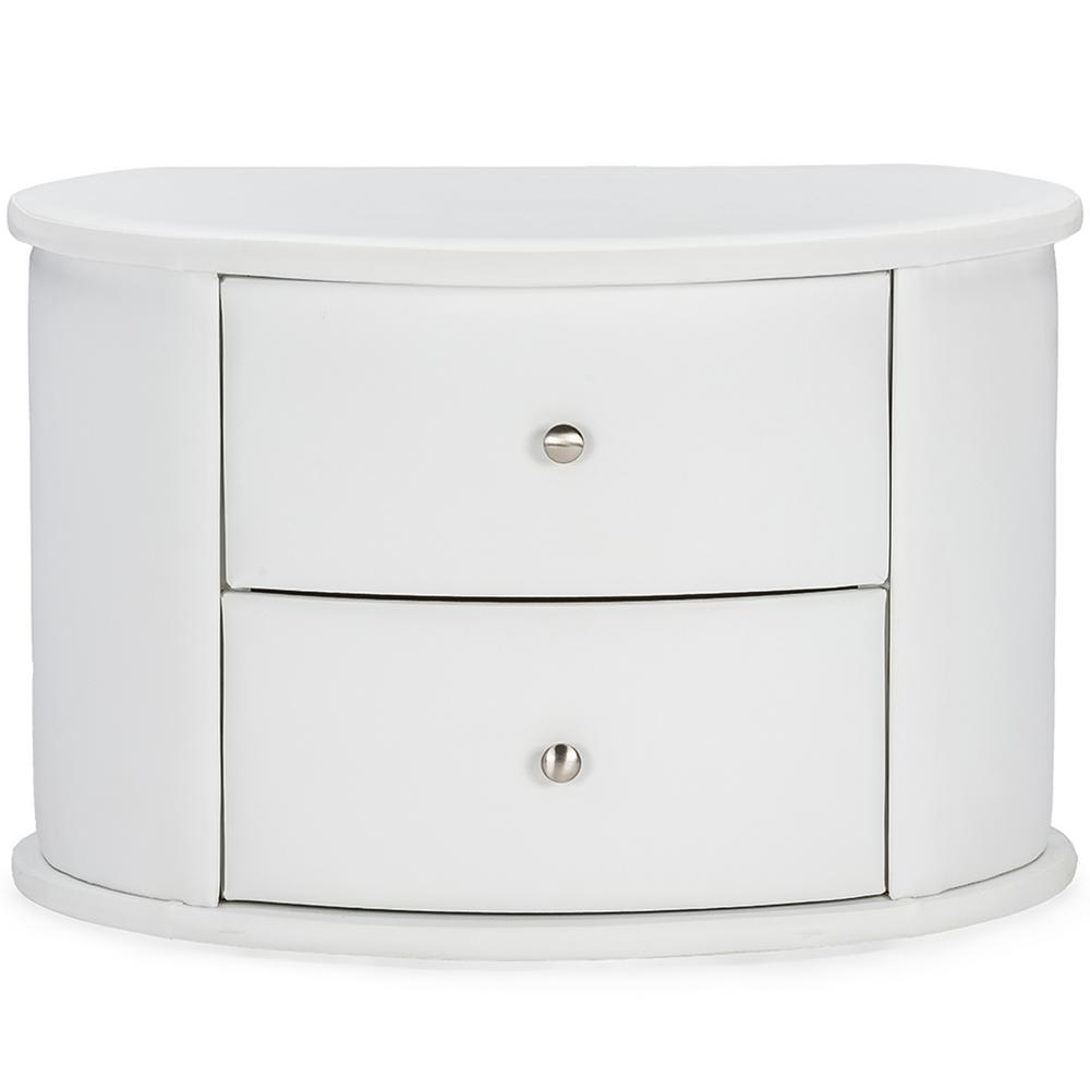 Ritchie 2-Drawer White Nightstand