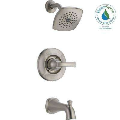 Mandara Single-Handle 1-Spray Tub and Shower Faucet in Stainless