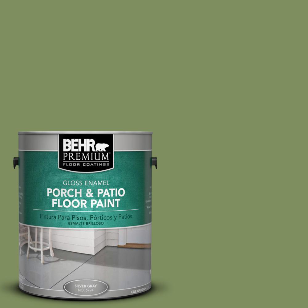 1 gal. #PPU10-3 Green Energy Gloss Porch and Patio Floor Paint