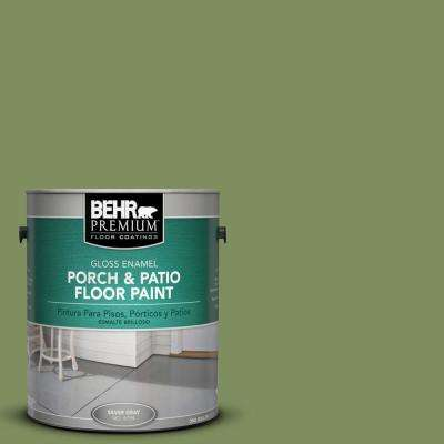 1 gal. #PPU10-03 Green Energy Gloss Interior/Exterior Porch and Patio Floor Paint