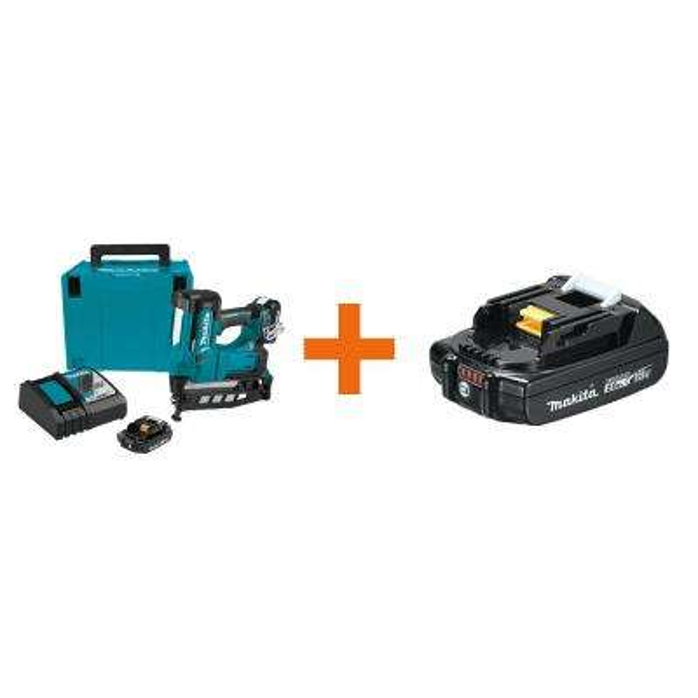 2-1/2 in. 18-Volt 16-Gauge LXT Cordless Straight Finish Nailer Kit (2.0 Ah) with Bonus 18-Volt LXT Battery Pack 2.0Ah