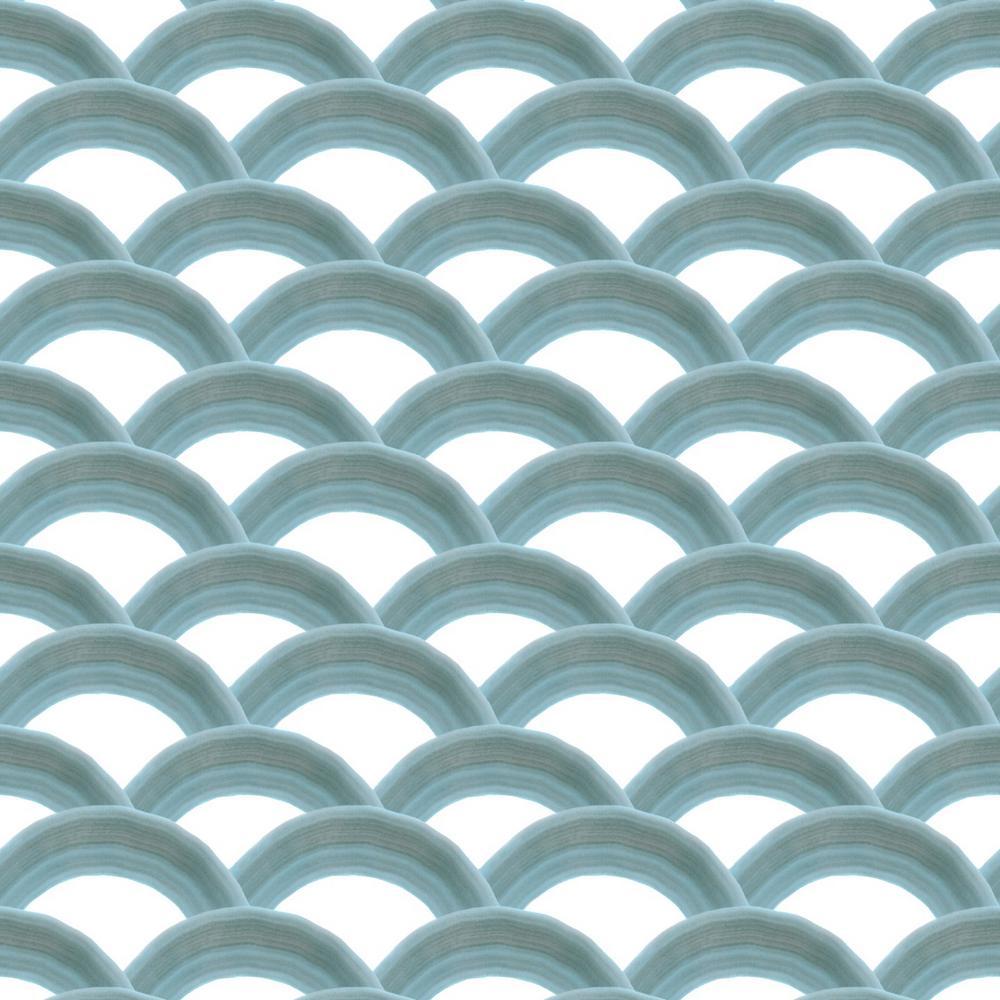 Mitchell Black Baby Collection Rainbows in Azure Premium Matte Wallpaper