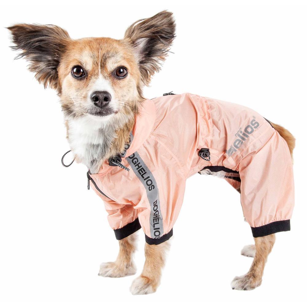 Medium Pink Torrential Shield Waterproof Multi-Adjustable Full Body Dog Jacket