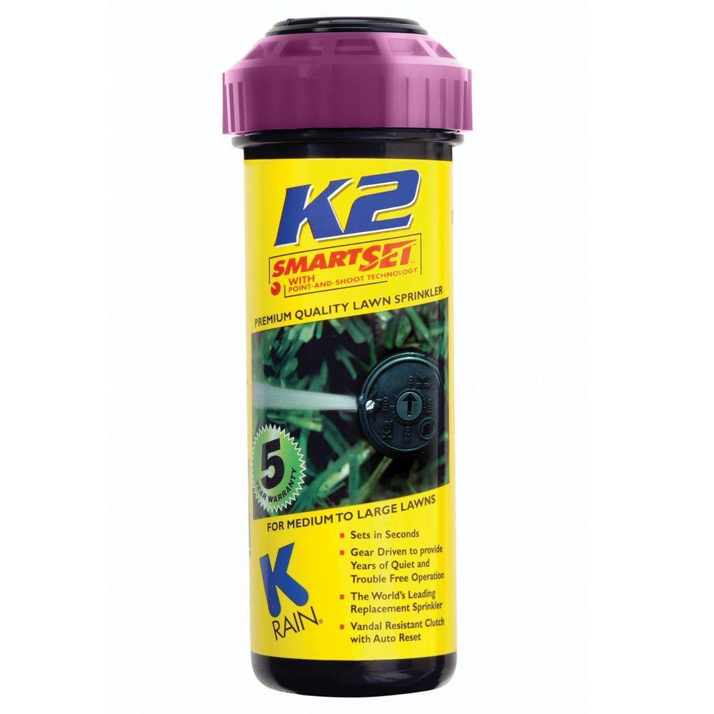 K-Rain 5 inch K2 Smartset Reclaim Water Gear Drive Sprinkler by K-Rain