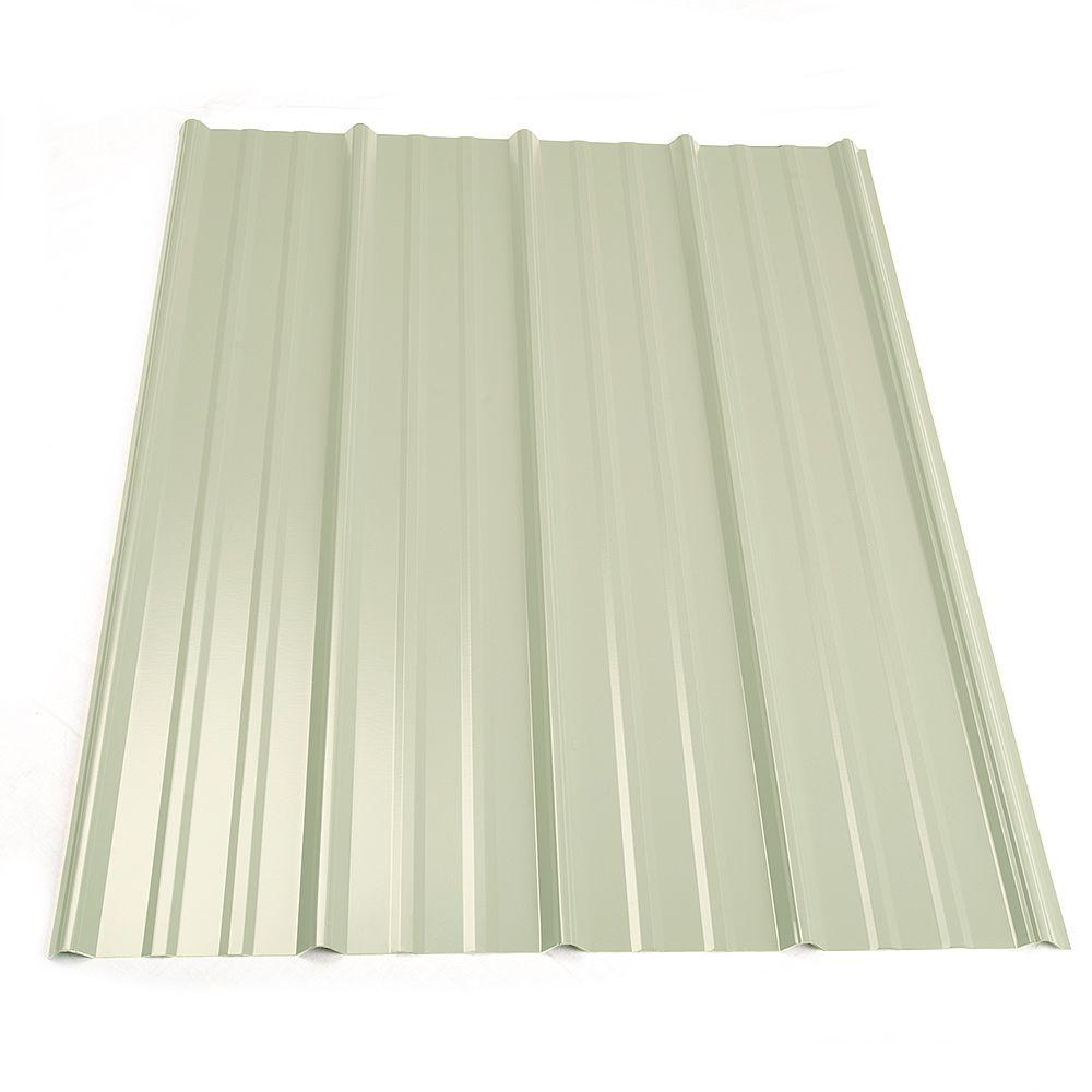 Metal S 16 Ft Clic Rib Steel Roof Panel In White