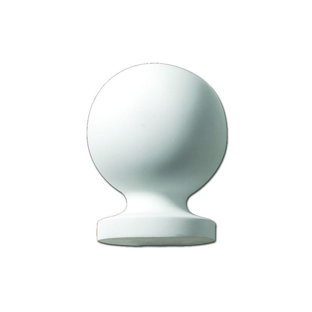 Fypon 9 in. x 7 in. x 7 in. Polyurethane Post Ball Top Finial