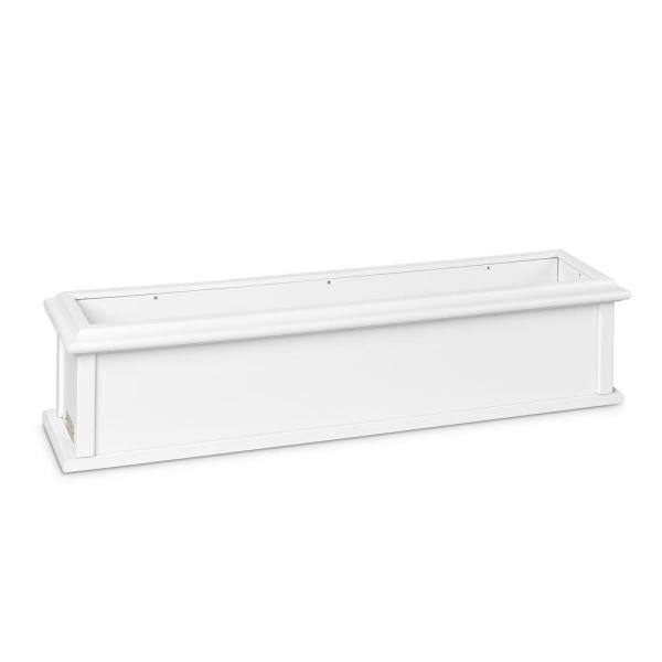 48 in. x 10 in. White Plastic Window Box