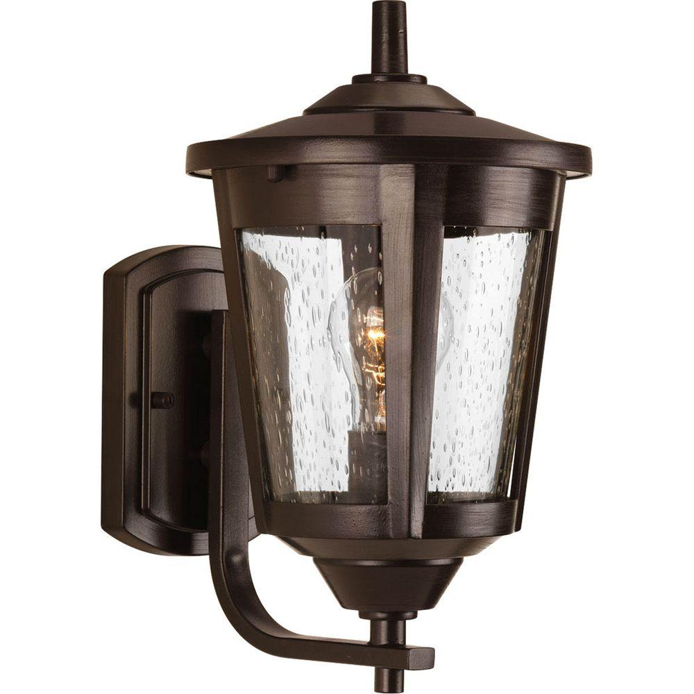 East Haven Collection 1-Light 7.5 in. Antique Bronze Outdoor Wall Lantern