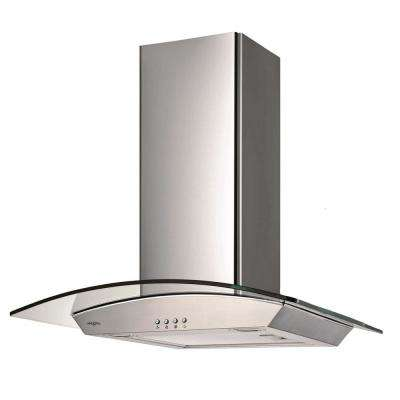 30 in. 400 CFM Convertible Ducted Wall-Mounted Glass Canopy Range Hood with Light in Stainless Steel