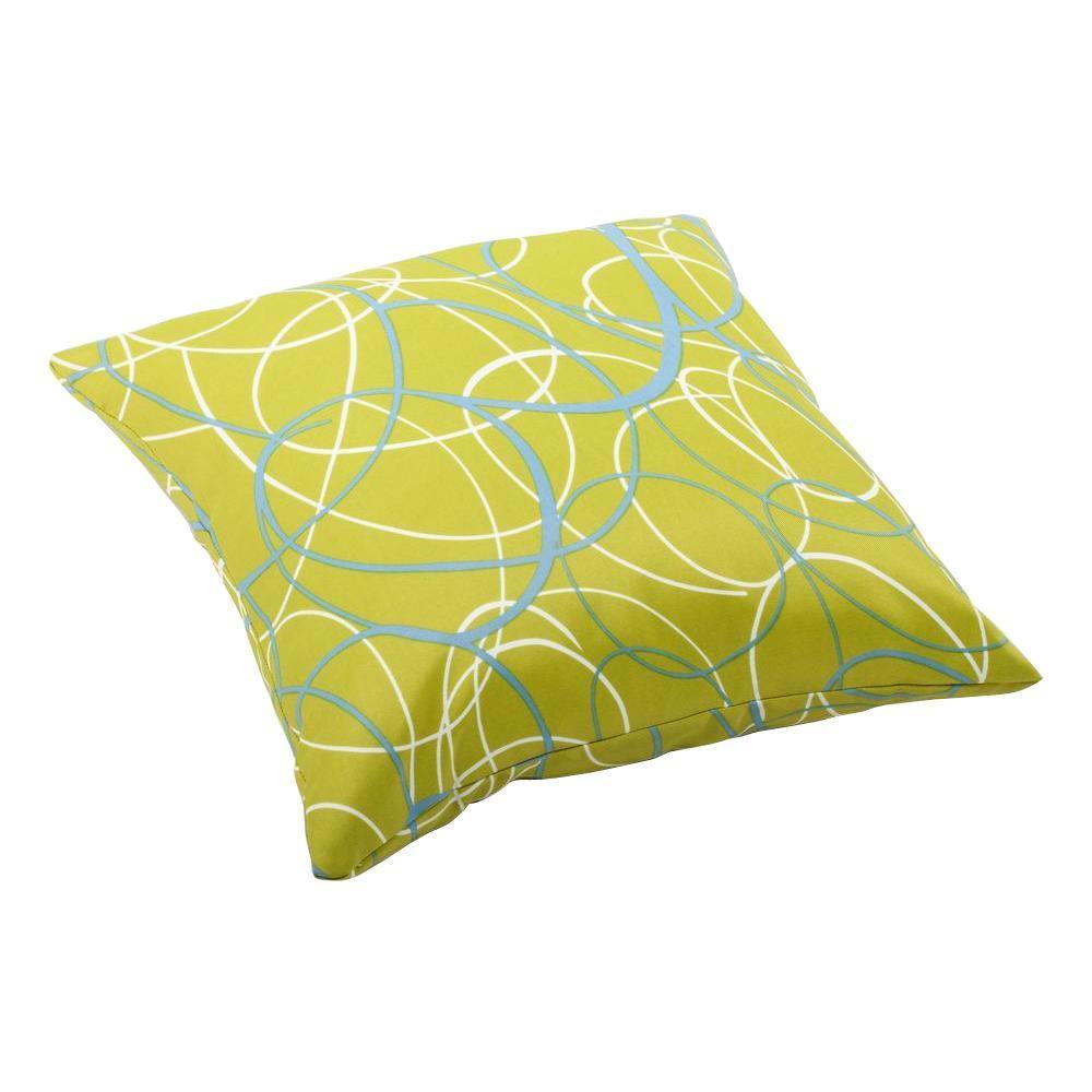 Hampton Bay Sky Medallion Square Outdoor Throw Pillow-7055 ...