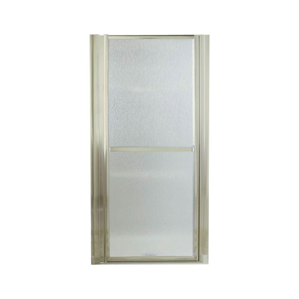 STERLING Finesse 36 in. x 65-1/2 in. Framed Pivot Shower Door in Nickel with Handle
