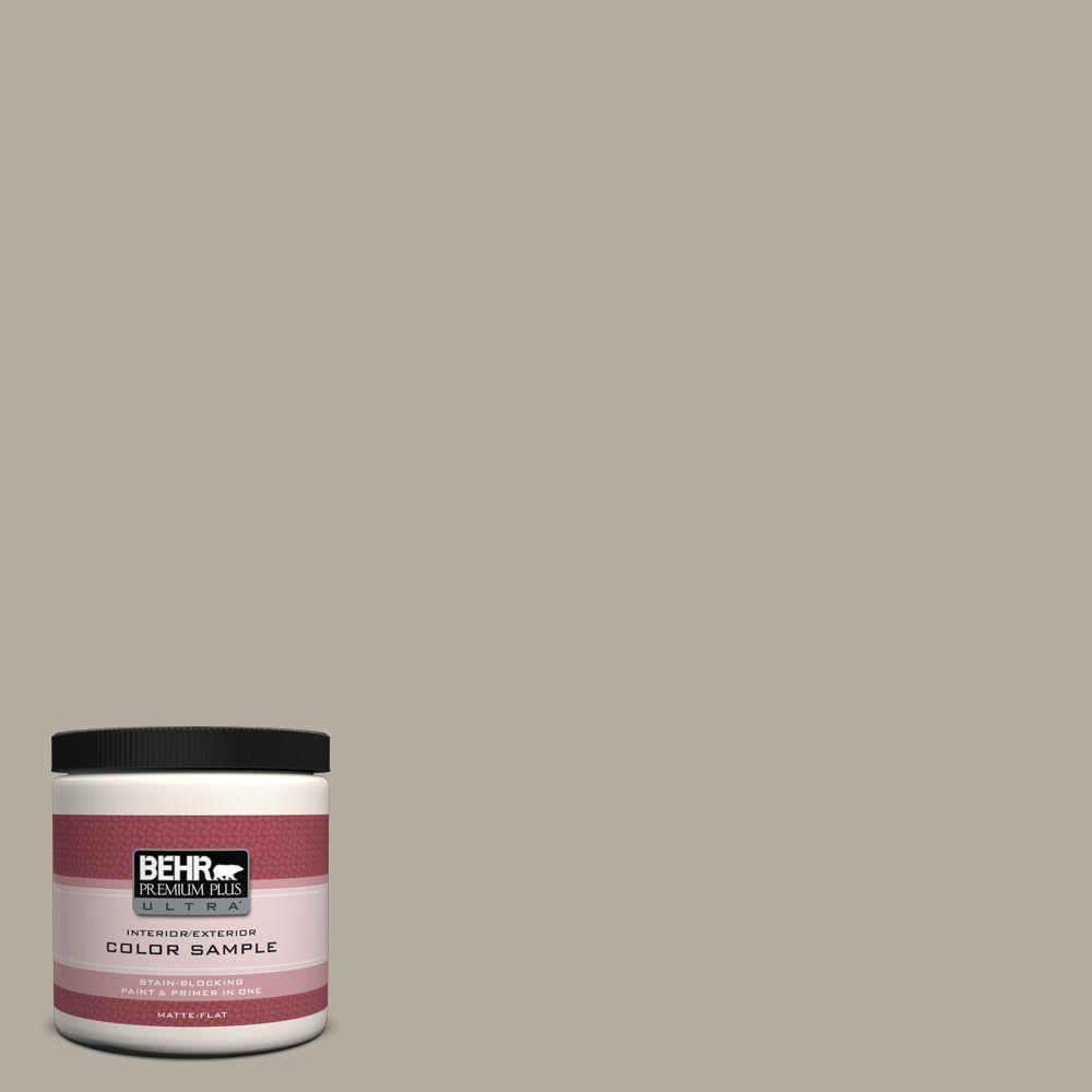 BEHR Premium Plus Ultra 8 oz. #PPU18-13 Perfect Taupe Interior/Exterior Paint Sample
